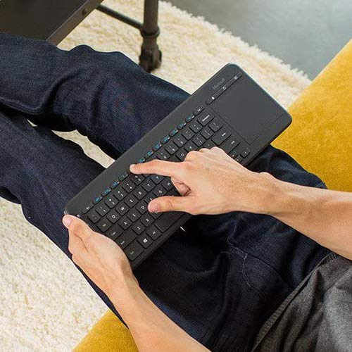 Microsoft All-in-One Media Keyboard Tastatur RF Wireless Englisch Schwarz - Tastaturen (Standard, Wireless, RF Wireless, Schwarz)