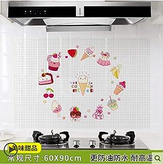 Cuisine autocollant résistant à l'huile poêle poêle résistant aux hautes températures mur autocollant résistant à l'huile ...