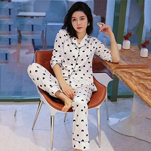LSJSN Slaapmode Lange Mouw Vrouwen Slaap Set Wit Satijn 2 Stks Slaapmode Zijdeachtige Lente Kimono Jurk Nachtkleding Thuis Kleding