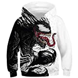 TAKUSHI HF Teen Boys Girls Fashion 3D Printed Galaxy Long Sleeve Pullover Hoodies Hooded Sweatshirts with Pocket 6-13Y (Venom, M(8-11 Years))