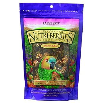 LAFEBER'S Sunny Orchard Nutri-Berries Nourriture pour Oiseaux, fabriqué avec des ingrédients sans OGM et de qualité Humaine, pour perroquets, 283,5 g