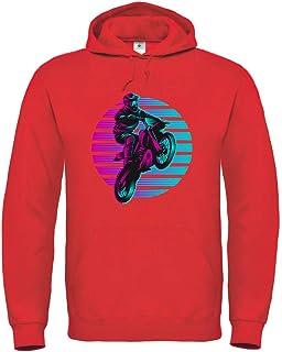 Sudadera con capucha para motocross Sunset de 80 con capucha, unisex, para niños y niñas