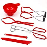 Canning Kit Canning Supplies Canning Essentials Boxed Set Include Canning Funnel, Jar Lifter, Jar Wrench, Lid Lifter, Canning Tongs, Bubble Popper/Bubble Measurer/Bubble Remover Tool