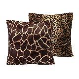 MERIGLARE 2pack Leopard Zebra Print Animal Print Funda de...