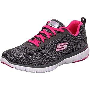 Skechers Women's Flex Appeal 3.0 Sneaker, BKHP, 8.5 M US
