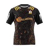 JIEBANG 2020 Chiefs Court Rugby Jersey, Shirt des Hommes De Sport, Compétition De Formation Maillot De Foot Homme Black-M