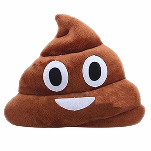 EMOJESSS Generic Stuffed Pillow Cushion Emoji Poop Shaped Smiley Face Doll Toy by Bonwill
