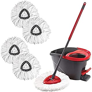 QZ Spin Mop Replacement Heads Easy Cleaning Mopping Wring Refill Mop For O-Cedar