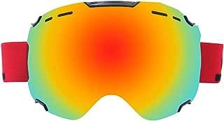 プロのスキーゴーグル、ハイエンドのスタイリッシュなダブルベントレンズ、大きな球状の超クリアな視野、効果的な風、砂、UV、雪の失明、屋外スポーツゴーグルに適した3層の高密度スポンジ耐衝撃性