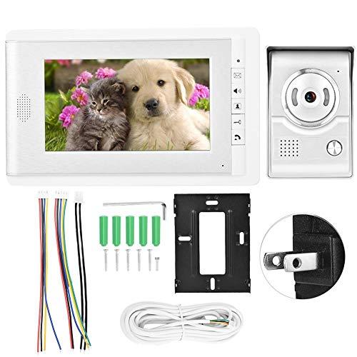Videotürklingel, 7 Zoll HD TFT-LCD Smart Türklingel Video Intercom Entry System Smart Türklingel(US-Stecker)