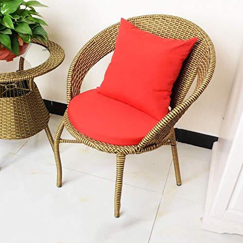ido Wicker Nest Carpets Throw Pillow, Round Sponge Chair Cushions, Chair Cushion Design Detachable Zip for Indoor Patio Yard Garden Red 45x45cm / 45x45cm