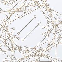 ファイニエ 9ピン ゴールド 30mm 3cm KC金 100個 両カン付き スチール製 ピン 接続金具 手芸材料 ハンドメイド 金具 アクセサリーパーツ AP1928