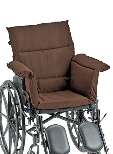 AmeriMark Chair Cushion Pad Seat Cover for Wheelchair, Transport Chair or Electric Scooter Brown One Size