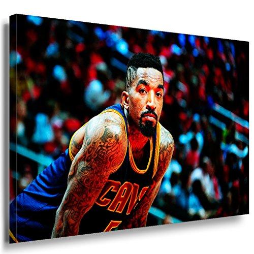 Jr Smith Basketball Cleveland Cavaliers NBA LaraArt - Lienzo decorativo (150 x 100 cm), diseño de Cleveland Cavaliers