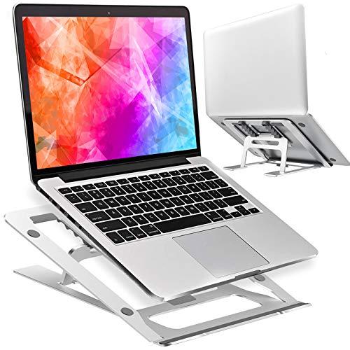 EPILUM Supporto PC Portatile,Supporto Notebook con 5 Angolazione Regolabile Pieghevole Alluminio Supporto di Raffreddamento Laptop Ventilato Portatile LS100
