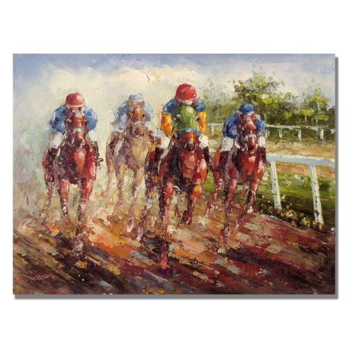 Kentucky Derby by Master's Art, 22x32-Inch Canvas Wall Art