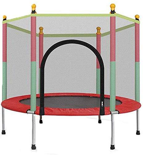 HKAFD Trampolín con Red de gabinete, niños en Interiores Fitness Trampoline Mini Trampoline Ejercicio Trampoline Spring Pad Rebounder Ayuda a los niños a Crecer y Jugar (Size : 55in)