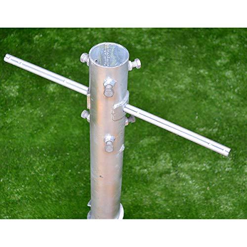 Bodenhülse XXXL-KURZ bis Ø 105 mm / 90 cm, Schwerlast für Zaunpfosten, Sonnenschirm, Fahnenmast, Wäschespinne uvm.