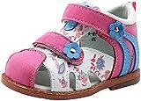 ahannie sandali in pelle morbida prima infanzia, sandali punta chiusa bambini, scarpine primi passi per bambino & bambina 0-6-12-24 mesi(color:fuxia, size:18 eu)