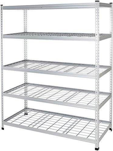Amazon Basics Heavy Duty Storage Shelving Unit - Double Post, High-Grade Aluminum