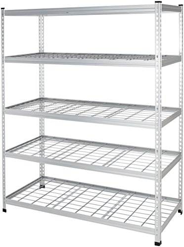 Amazon Basics Heavy Duty Storage Shelving Unit - Double Post, High-Grade Aluminum