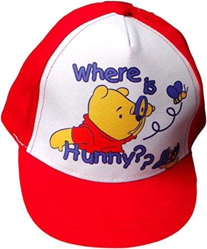 Disney Winnie The Pooh Baby Cap - Where is Hunny?? - Rot/Weiß/Mehrfarbig