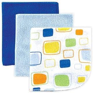 Luvable Friends Washcloth, Blue, 3-Count