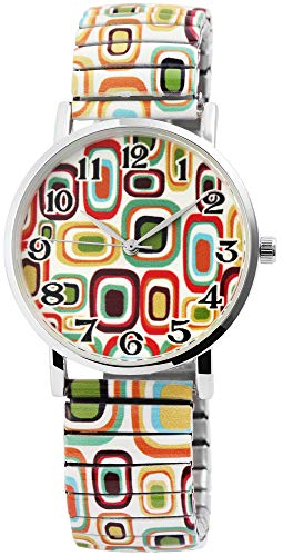 Excellanc Damenuhr Moderne Kunst Zugband Zugarmband Metall Armbanduhr