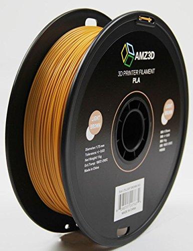 1.75mm Light Brown PLA 3D Printer Filament - 1kg Spool (2.2 lbs) - Dimensional Accuracy +/- 0.03mm