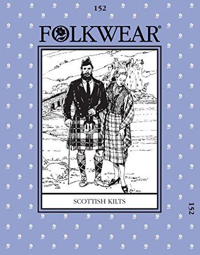 folkwear Mustern Damen & Herren Schnittmuster schottischen Kilt