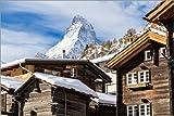 Poster 150 x 100 cm: Zermatt von Jan Schuler - hochwertiger
