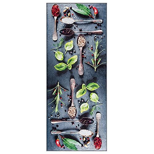 wunderlin Läufer Flur Teppich Küche Collection Waschbarer Modernes Design, Wertvoll Verwenden Für Teppichlaeufer, rutschfest und Küchenläufer Nützlich Küchenteppich Waschbar (Chile, 60x150)