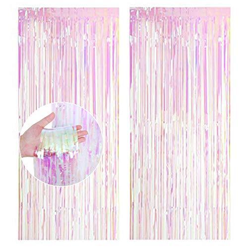 Cortinas de Malla Metálica, Cortina de lámina, Franjas Decoración Fondopara Fiesta de Cumpleaños,Bodas,Decoraciones Bricolaje Ventana, Puerta Apoyos Foto (1m x 2m)