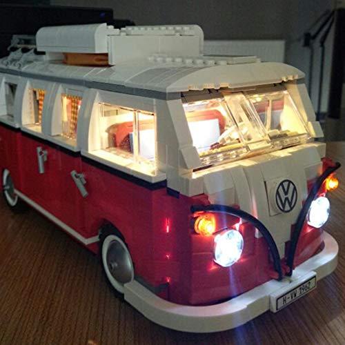 NURICH Licht Set für Lego 10220 Volkswagen T1 Campingbus, USB Stecker, passen zum Lego 10220