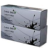 Colour Direct 2 X Cartuchos de tóner TK-1115 Reemplazo para Kyocera FS-1041 FS-1220MFP FS-1320MFP - 1T02M50NL0 - Negro 1.600 páginas - Equipado con la última viruta