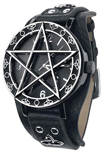 etNox Time Pentagramm Unisex Armbanduhren Standard Kunstleder, Zinklegierung Gothic