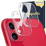 [2 pack] UniqueMe Protezione Lente Pellicola Posteriore Compatibile con iPhone 11/iPhone 12...