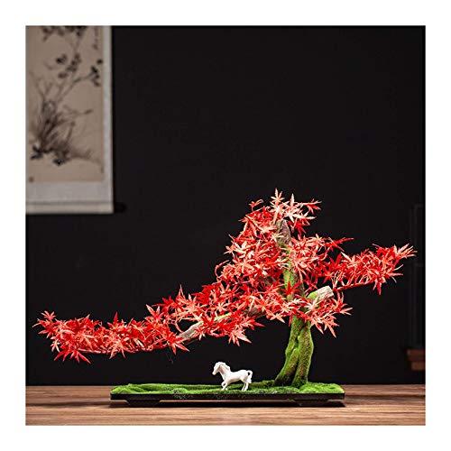 Lsqdwy Simulación de árboles Artificiales Bienvenido Pino Adornos de bonsái Plantas de bonsái Artificiales Árbol Artificial de Interior Decoración de Escritorio para la Oficina en casa D & Eacute;