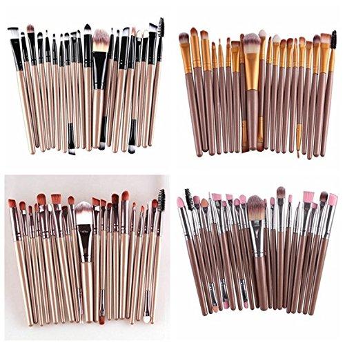 MAANGE Lot de 20 pinceaux de maquillage professionnels en poils synthétiques