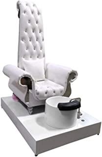 Pedicure Chairs For Salon With Plumbing AmericanStyle DesignFeatures Nail Salon Chair With Foot Bath King ThroneRoyalty Royal Chairs PU leather(white)
