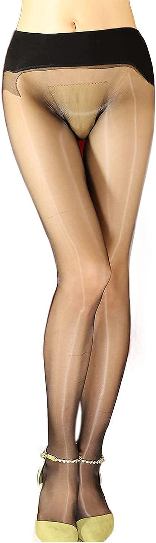 Women's Shiny Sheer Tights Seamless 1D Transparent Stocking No Run Pantyhose to Shape Leg For Women
