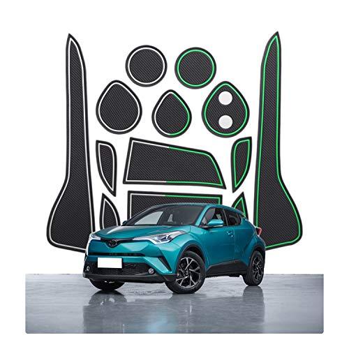 CDEFG Tappetino Antiscivolo per Toyota C-HR 2016-2021 Antipolvere Tappetini in Gomma per Interni Auto Accessori (Bianco)