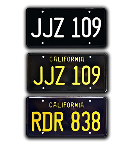 Celebrity Machines Bullitt Mustang + Charger | JJZ 109+ RDR 838 Metal Stamped License Plates