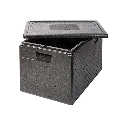 Thermo Future Box GN 1/1 Premium Thermobox Kühlbox, Transportbox Warmhaltebox und Isolierbox mit Deckel,61 Liter 60 x 40 Thermobox,Thermobox aus EPP (expandiertes Polypropylen)