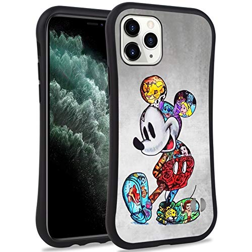 DISNEY COLLECTION iPhone 11 Pro Max 6.5inch Case Style Stitch Pattern Small Waist Design Hard PC Shield+Soft TPU Bumper Shockproof Protective Cover for iPhone 11 Pro Max(2019) (Colorful Mickey)