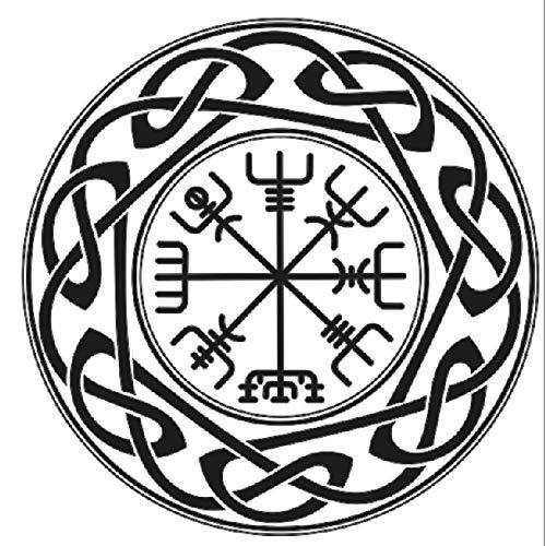 Keltisches Mandala mit Runen wiederverwendbare Schablone A5 A4 A3 & größere Größen Orientalischer Reisestil / M13 (PVC wiederverwendbare Schablone, A3 Größe - 297 x 420 mm, 29,7 x 41,9 cm)