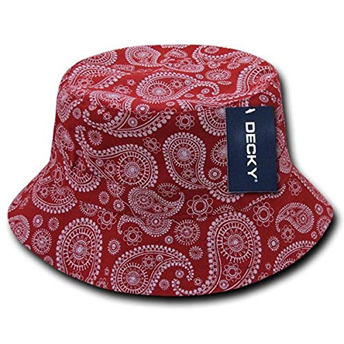 DECKY Paisley Bucket Hat, Red