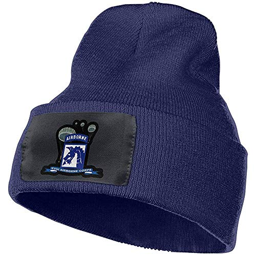 Preisvergleich Produktbild Quintion Robeson XVIII Airborne Corps W Fallschirm - Band Beanie Hut Warme Kabel Strickmütze Unsexuelle Wintermütze CAP-081