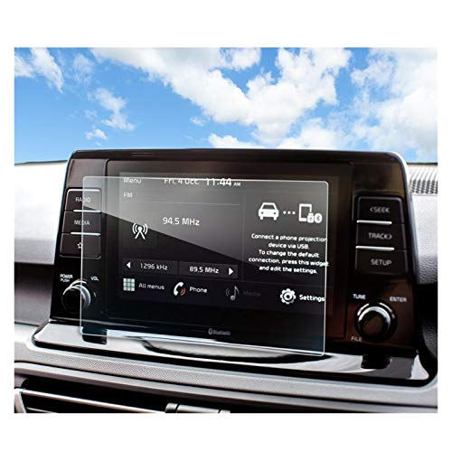 XIAOZHIWEN Coche Multimedia Radio Pantalla de Pantalla Protector Auto Interior Protección Etiqueta engomada para KIA SELTOS 8 Pulgada 2021 (Color Name : 8 Inch)