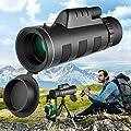 Necesa Monocular Telescope,40x60 High Power Monoculars for Smartphone,BAK4 Prism HD Waterproof Zoom Monoscope Lower Night Vision Monocular Binoculars for Adult Bird Watching Camping Wildlife Hiking